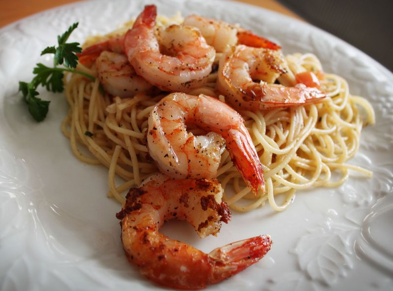 Shrimp and pasta tp