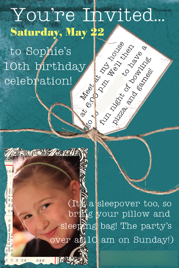 Birthday Invitation tp