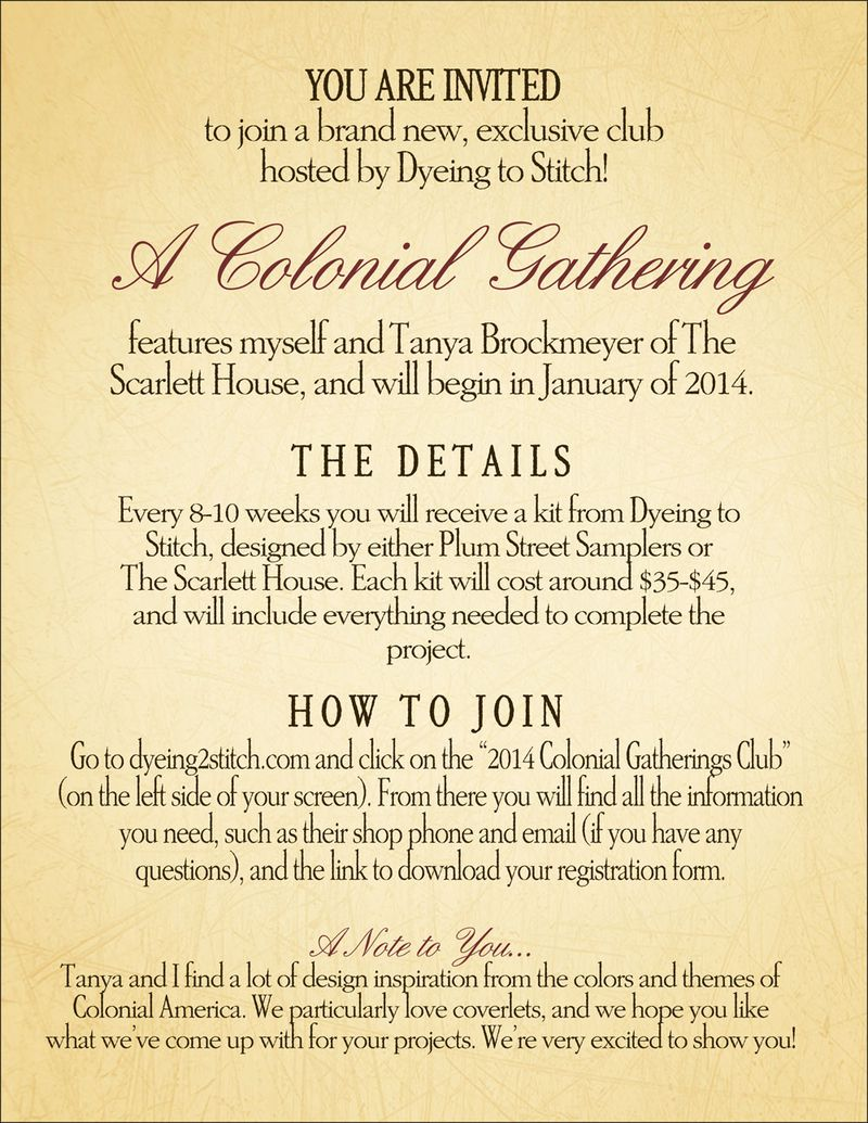 A Colonial Gathering ANNOUNCEMENT tp